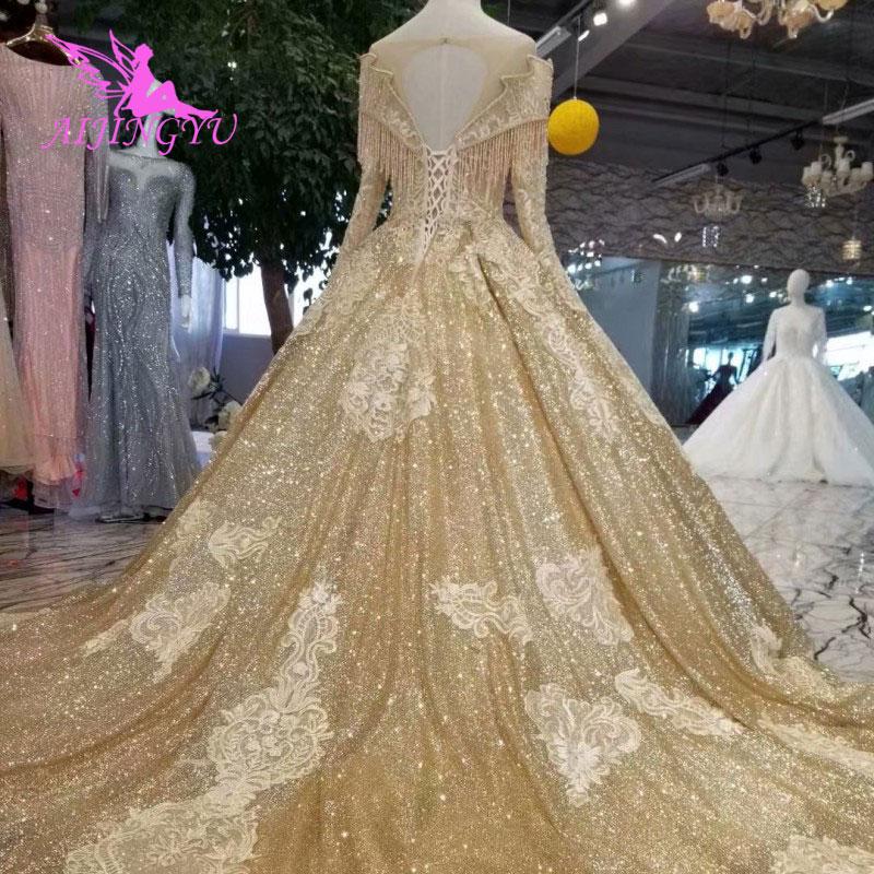 c9e06eedc2a85 AIJINGYU Wedding Dresses In Dubai Luxurious Dress Gothic Real Sample ...