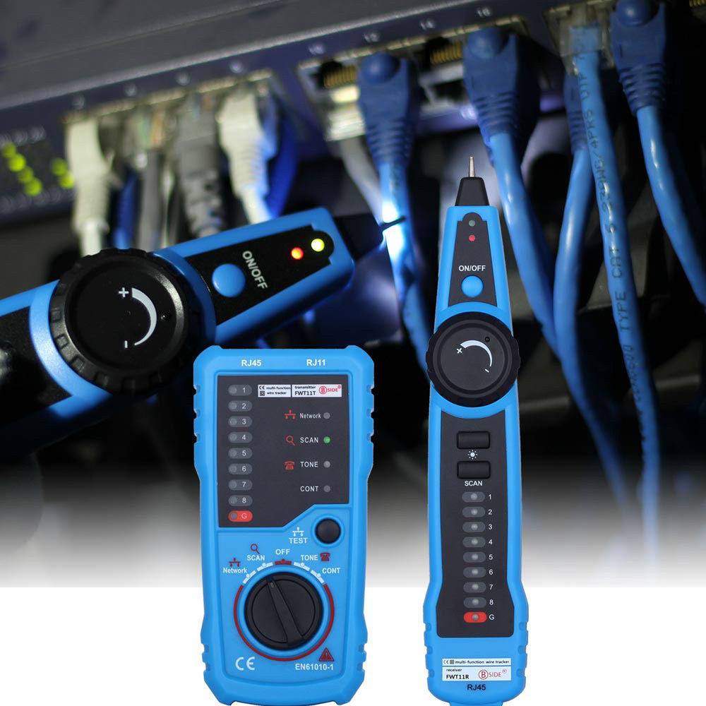 BSIDE FWT11 Handheld RJ11 RJ45 Cat5 Telephone Wire Tracker Tracer Toner Ethernet LAN Network Cable Tester Detector Line Finder new rj45 rj11 ethernet lan network cable tester wire tracker detector telephone wire tracer line finder tester with bnc terminal