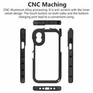 Image 2 - Ulanzi ฝาครอบกันชนโลหะกรณีกรอบโทรศัพท์สำหรับ iPhone X/XS XS/MAX, w Mic เย็นรองเท้า Mount & 17 เลนส์สำหรับช่วงเวลาเลนส์