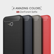 Phone Case For ASUS ZenFone Live ZB553KL Silicone Carbon Fiber Soft Asus 4 Selfie ZD553KL