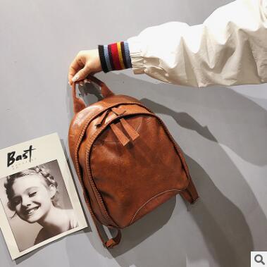 2018 korean shoulder bags women bag backpacks pu leather mochila escolar school bags for teenagers girls Top-handle back pack