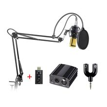 Mikrofon bm 800 kondensator professionelle audio kondensieren mikrofon computer 48 v phantomspeisung soundkarte usb kamera