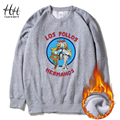 HanHent Los Pollos Hermanos Fleece Men Sweatshirts Round Collar Man Pullover Clothing Sportswear Breaking Bad Thick Hoodies Boys