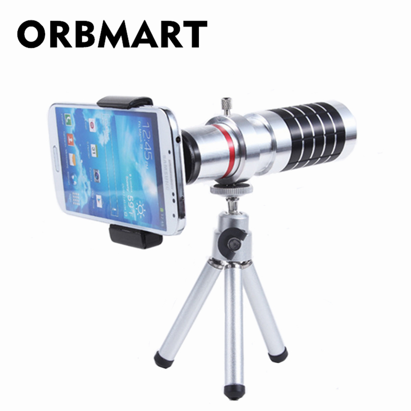 ORBMART Universal 16X Zoom Teleskop Kamera Handy Objektiv + Mini - Handy-Zubehör und Ersatzteile - Foto 1