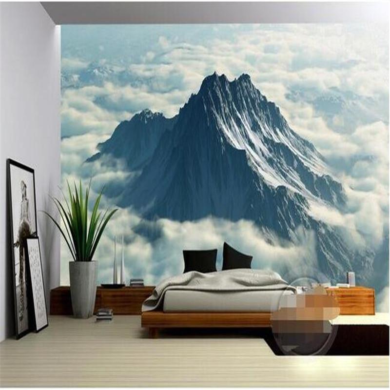 beibehang costumbre wallpapers hd nubes de un paisaje montaoso de seda casa decorada fondo paredes papel pintado c
