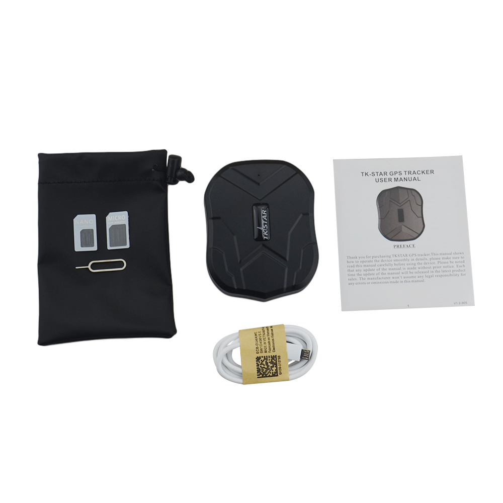 Free shipping Real time TKSTAR GPS GPRS Tracker TK905 5000mA battery Free iPhone Android APP waterpoof