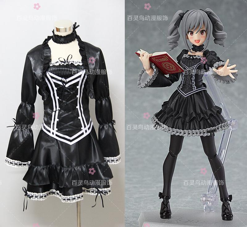 Anime l'idolm @ STER Kanzaki Ranko Costume Cosplay robe gothique sur mesure fête d'halloween