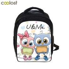 bc45b57b9b Cartoon Owl Backpack Animal Print Children Book Bags Girls School Backpacks  for Teenager cartable enfant Kawaii