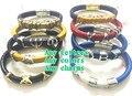 2017 new sorority magnetic leather bracelet fraternity greek strand wrap bangle ZPB DST AKA serious jewelry OGL-MIX2,1-10pcs
