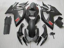 High quality 100% Fit for SUZUKI GSXR 600 750 fairing kit K6 K7 2006 2007 all matte black GSX-R600 GSX-R750 06 07 fairings s