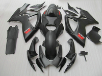 High quality 100% Fit for SUZUKI GSXR 600 750 fairing kit K6 K7 2006 2007 all matte black GSX R600 GSX R750 06 07 fairings s