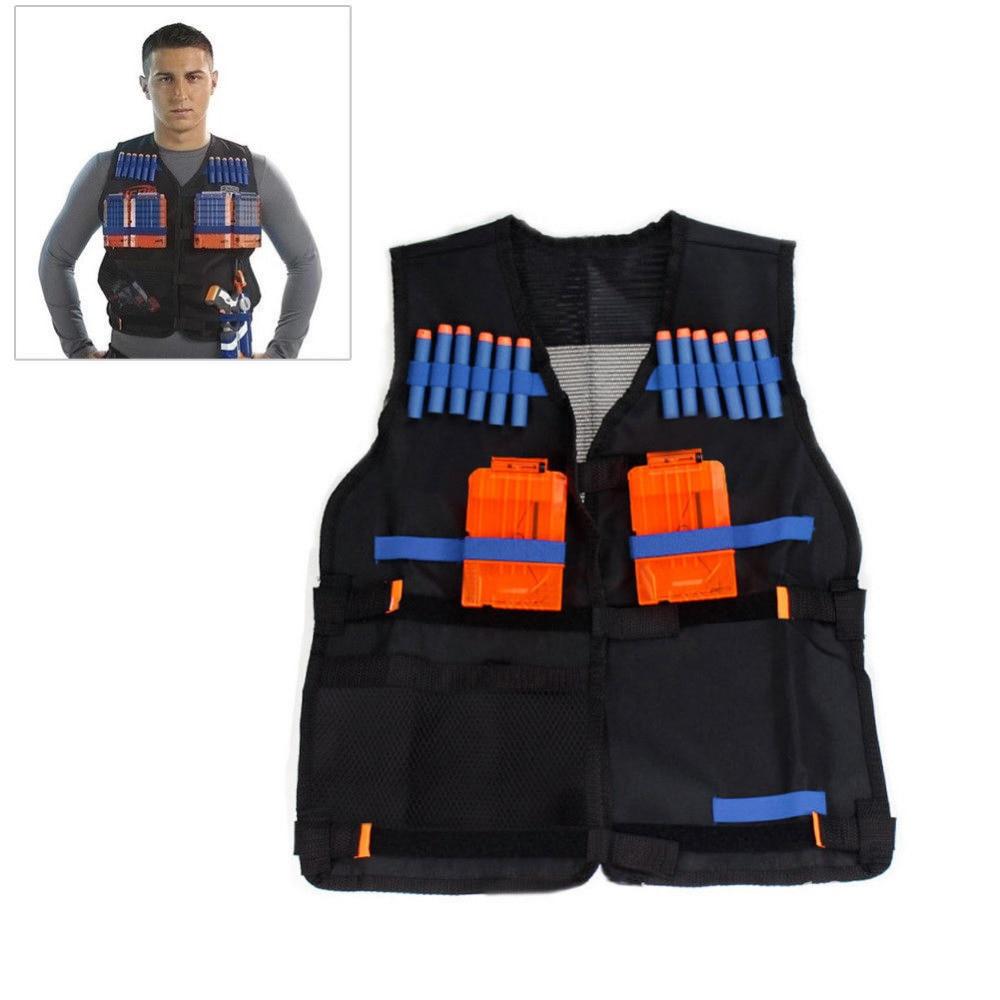 Tactical Vest Jacket Waistcoat Magazine Ammo Holder for Nerf N-Strike Elite Pistol Bullets Toy Guns Clip Darts worker 22 bullets model curve soft bullet clip ammo cartridge dart clip for nerf