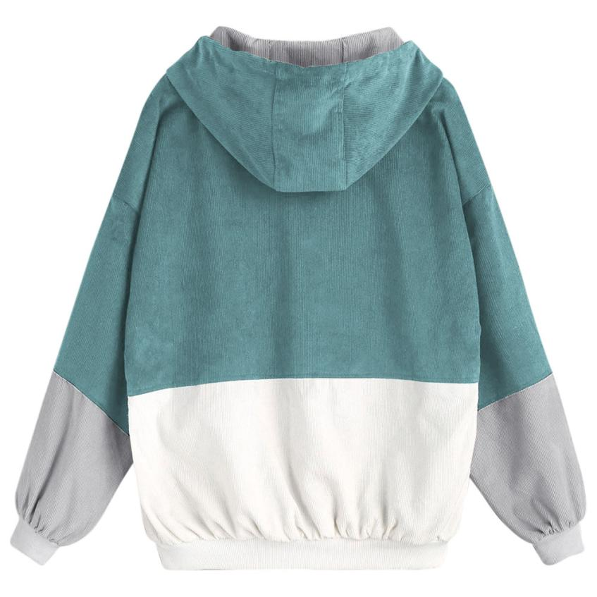 HTB1DboAX3ZupeRjt jqq6AfAFXaJ Bella Philosophy Long Sleeve Corduroy Women jacket Spring women Jacket plus size women Zipper female coat color block Patchwork