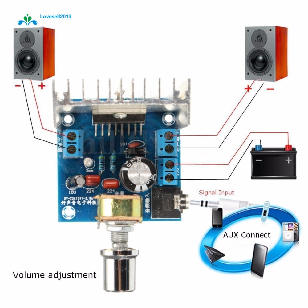 TDA7297 AC//DC12V 2*15W Dual-Channel Digital Stereo Audio Amplifier Board BR