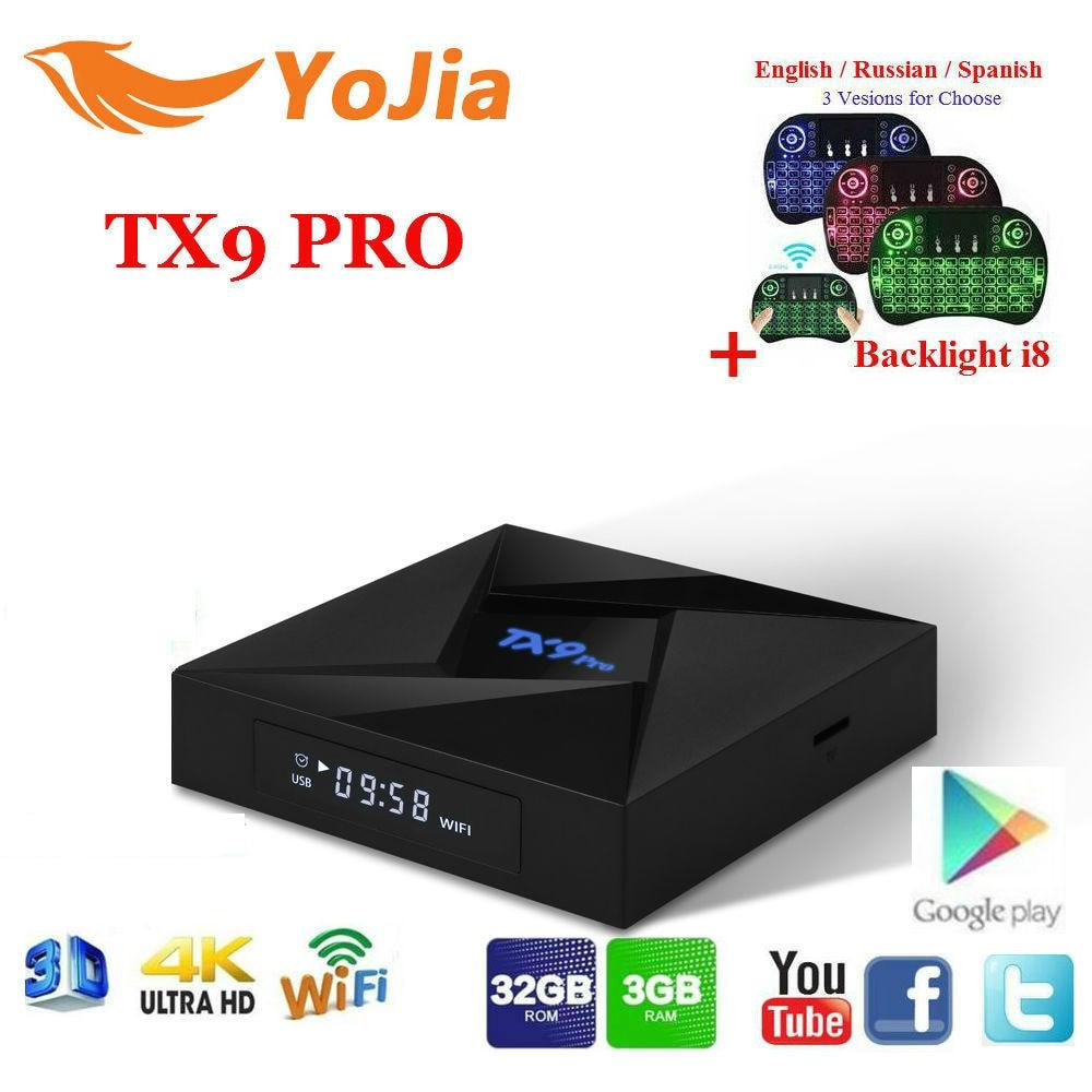 Yojia 3 gb/32 gb TX9 Pro Amlogic S912 Android 7.1 TV Box 2.4/5.8 ghz WiFi 4 k Bluetooth TX9 PRO Set Top Box