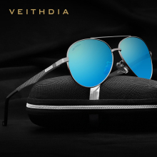 VEITHDIA Aluminum frame Men's Polarized Sunglasses Vintage for Men Driving Sun Glasses Oculos masculino Pilot sunglass 3850
