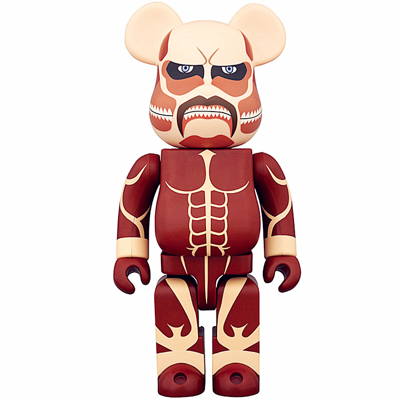 Medicom Toy 400% Be@rBrick Attack on Titans Street Art OriginalFake PVC Action Figure Collectible Model Toy S221