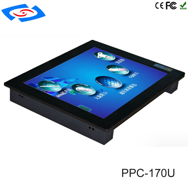 17 Inch Cheap Wall Mount Touch Screen PC IP65 Industrial Panel PC With 2xLAN  Support Windows 10 System For Automation & Kiosk