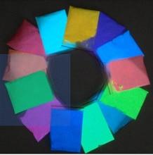 Дешевые 13 Цвет фотолюминесцентных Косметическая пудра фосфор пигмент для DIY decorationacrylic Краски печати 5 г 13 шт./компл., светящиеся в темноте Косметическая пудра пыли