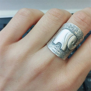 Image 5 - V.YA Solid 990 Sterling Silver Elephant Rings for Women Men Retro Animal Open Ring Womens Fashion Jewelry High Quality