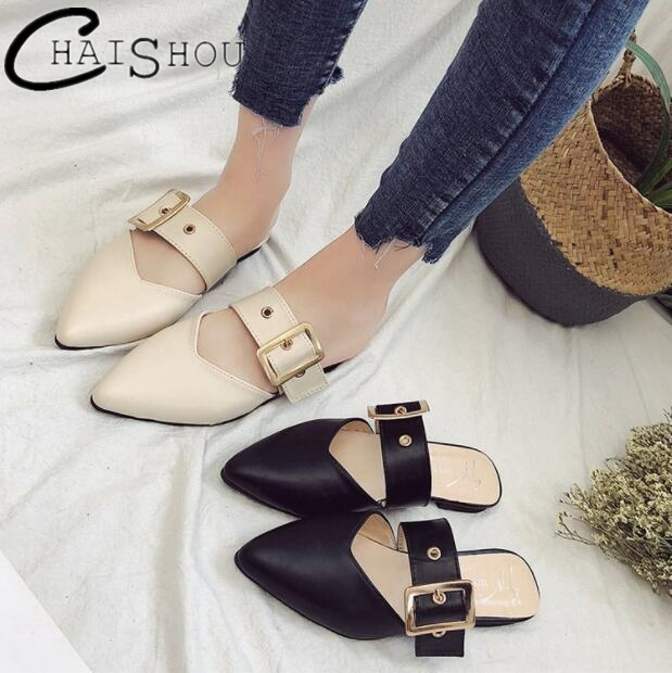 2018 Selling Spring summer flat women shoes Pointed Toe Women's sandals Fashion low heel shoes Casual lady flats slippers U196 cresfimix women cute spring summer slip on flat shoes with pearl female casual street flats lady fashion pointed toe shoes