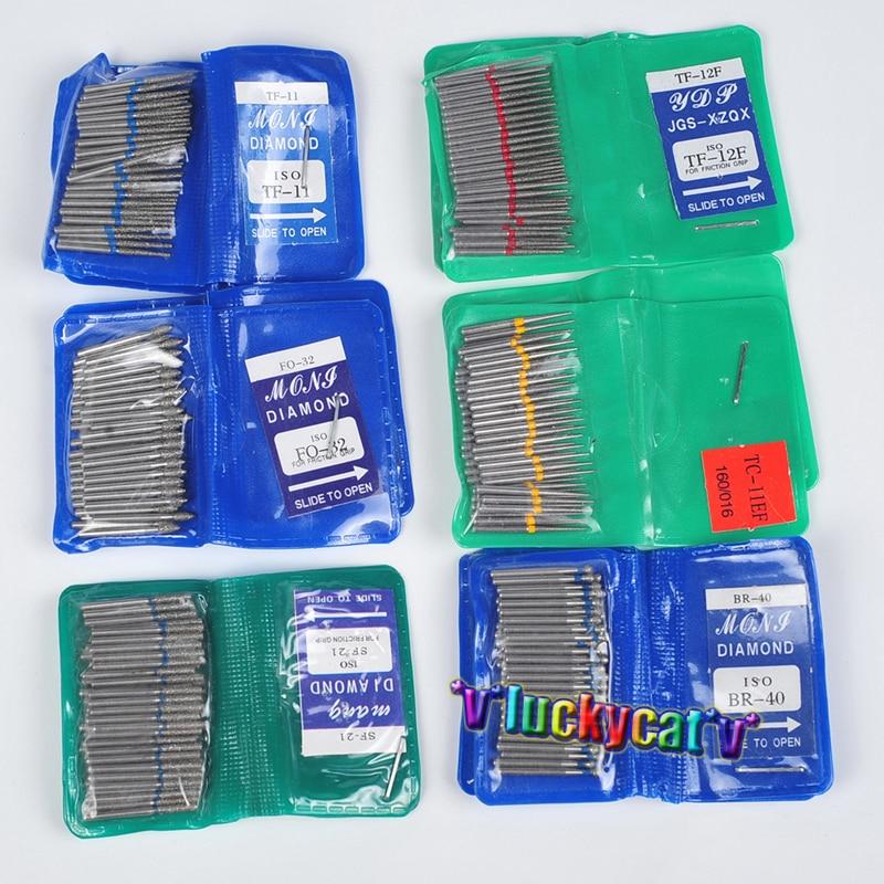 50pcs Dental Diamond FG High Speed Burs For Polishing Smoothing SF SERIES Dental Burs 1.6mm