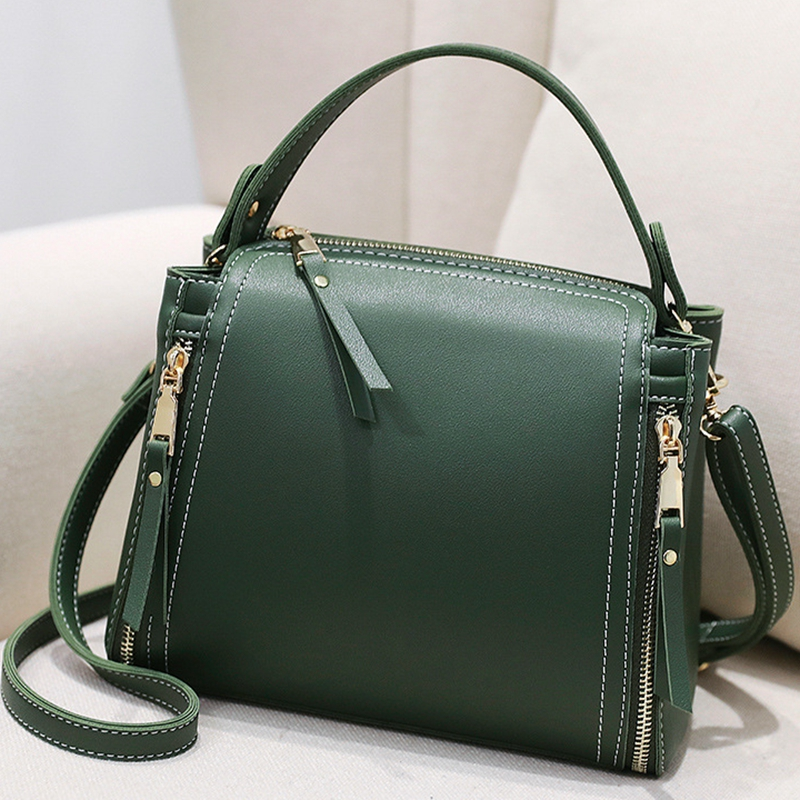 Small Mini Bucket Women Messenger Bags With Long Strap Designer Crossbody Bags Green Shoulder Bags Female Fashion Korean 2018