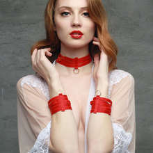 Red Elastic Bracelet O-ring Polyester Harnes Necklace Harnes