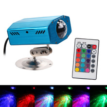 D1U# Remote 3W RGB LED Water Wave Effect Stage Light Ripple Effect Stage Light disco dj US/EU Plug