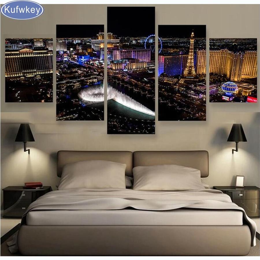 Ev ve Bahçe'ten Elmas Boyama Çapraz Dikiş'de 5D DIY Elmas Boyama Las Vegas Şehir, elmas Nakış Tam Kare Elmas Çapraz Dikiş Taklidi Mozaik Çok resimleri sanat'da  Grup 1