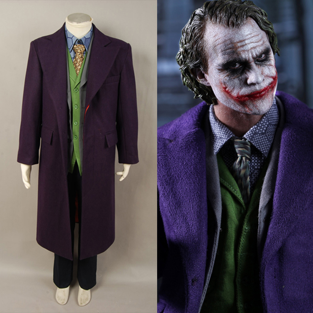4Pcs Adult Men Batman Dark Knight Joker Costume Heath -2532