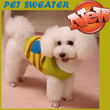 2016 Warm Autumn Winter Pet dog Clothes Wool Sweater Cute Pink Green Collar bow Clothes for Small Puppy Medium Big Dog Vest XS