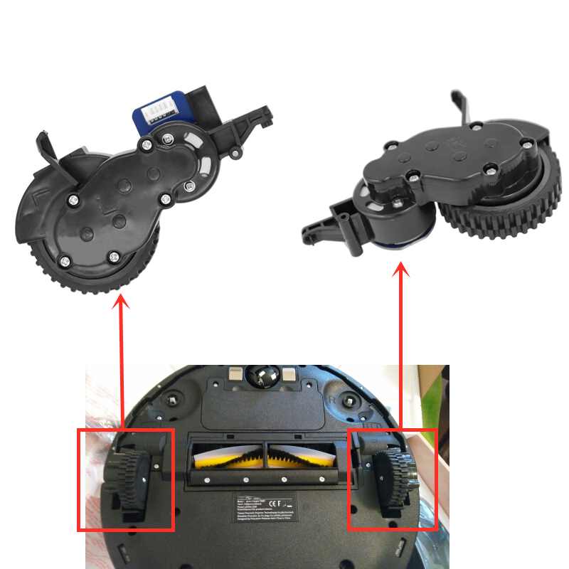 790t Robot Right Wheel Left Wheel For Proscenic 790T 790 T Robotic Vacuum Cleaner Spare Parts Accessories Replacement