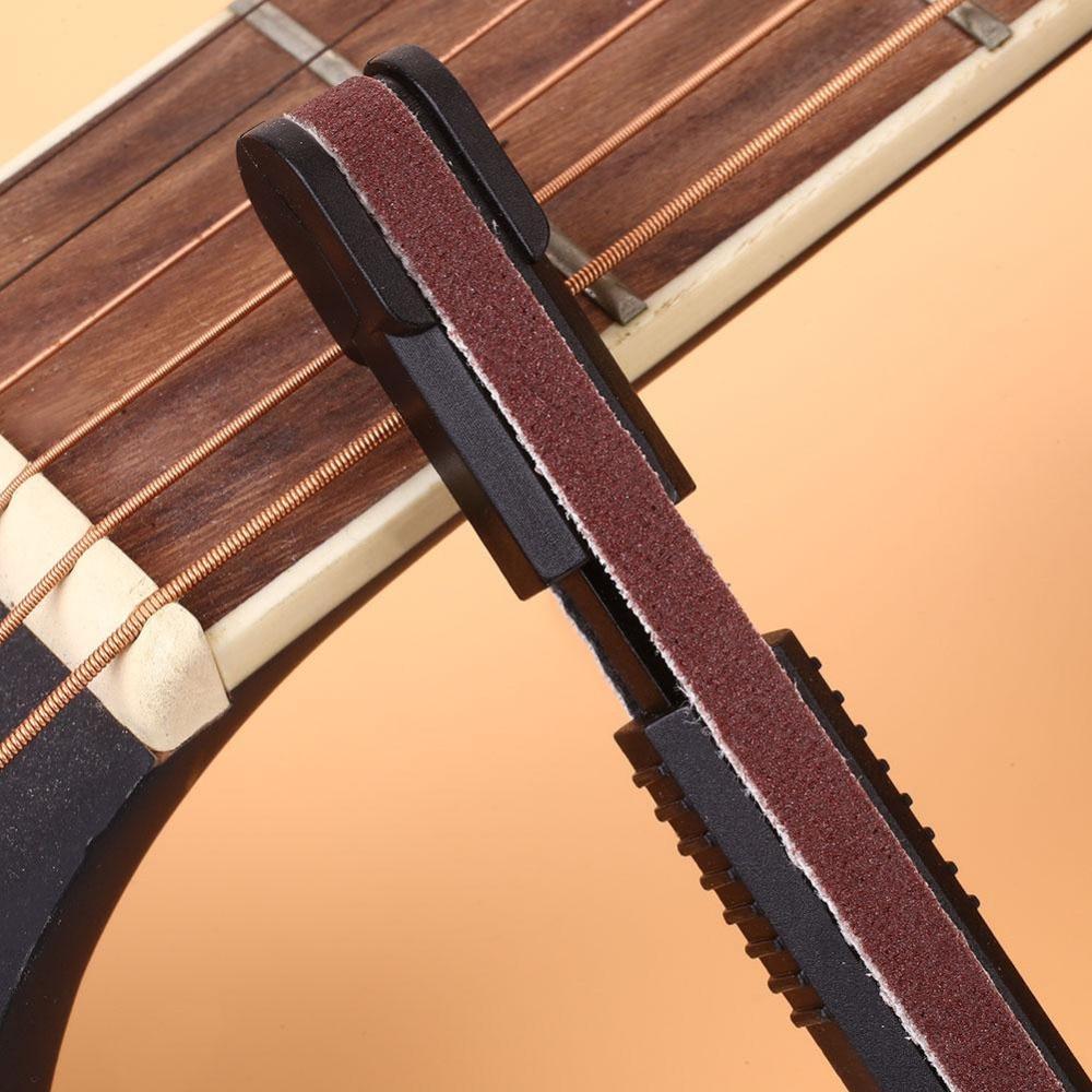 Guitar Dressing Level Steel Sanding Stick File Luthier Tool Stick Sanding Belts Guitarra Fret Repair Tools Guitar Parts guitar fret crowning file dressing file with 3 edges 1mm 2mm and 3mm luthier tool