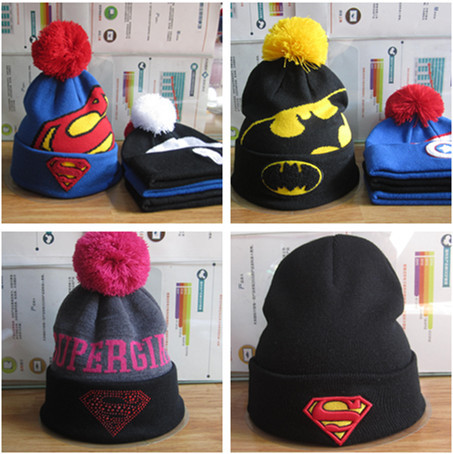 f3610fd9c2a Winter Fashion Marvel Comics Hat Superman Batman Wool Knitted Cap Women Men  Hip Hop Ski Beanies Warm Skullies Caps Gorros Hombre
