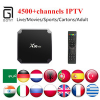 India Pakistan IPTV X96MINI Android TV Box With Power IPTV 4500 Iran Italy Albanian Turkish Latino
