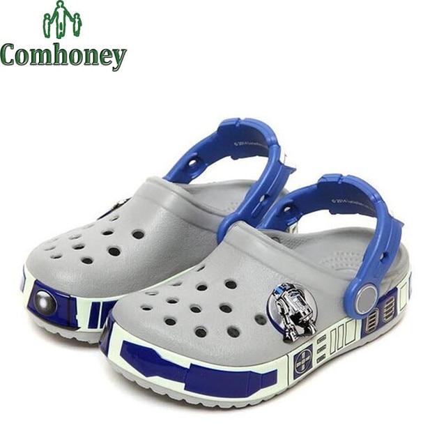 Star Wars Beach Sandals Children Boys Girls Summer Sandals Kids Rubber Mules Clogs Summer Shoes Baby Beach Slippers Footwear