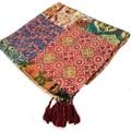 2016 Estilo Japonés de La Vendimia Totem Patchwork de Algodón Bufandas para Las Mujeres Twilly Bufanda Sarong Pareo Bandana Damas Borla Hecha A Mano