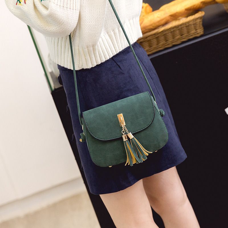 Tassel Women Bag Vintage Messenger Bag Women Shoulder Bags Matte Leather Ladies Design Handbag Female Crossbody Bag 2017 women messenger bag solid tassel vintage handbag pu leather for teenage girls shoulder crossbody bags black female 2017 xa1125h