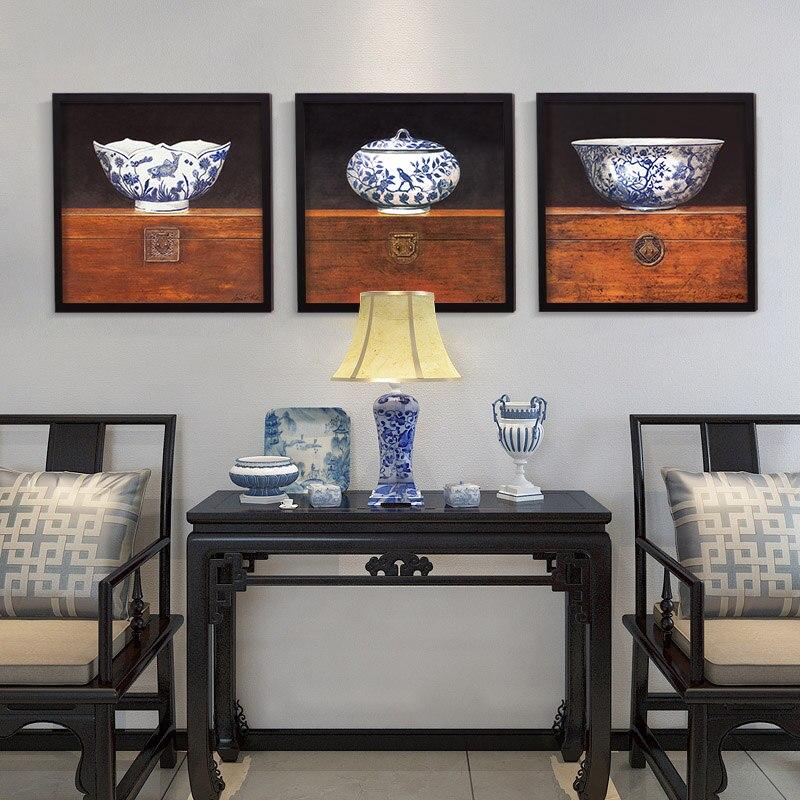 Blue, Style, Box, Oil, White, Decor