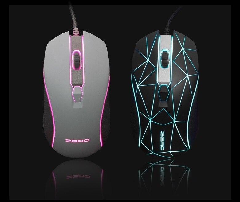 Original Metoo Xiaopaozhuangjia Wired Gaming Mouse USB Optisk LED Lights Mouse Gamer 2800 DPI Til PC Laptop Desktop