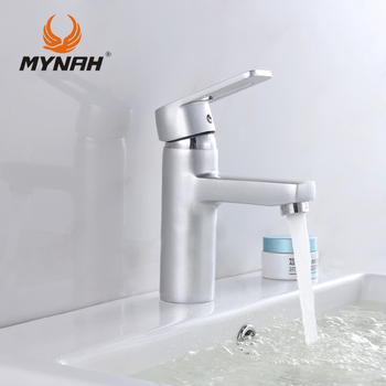 MYNAH Russia free shipping Piece Basin Faucet Chrome Faucet Ceramic Deck Mounted Single Holder Single Hole Washbasin Mixer Tap