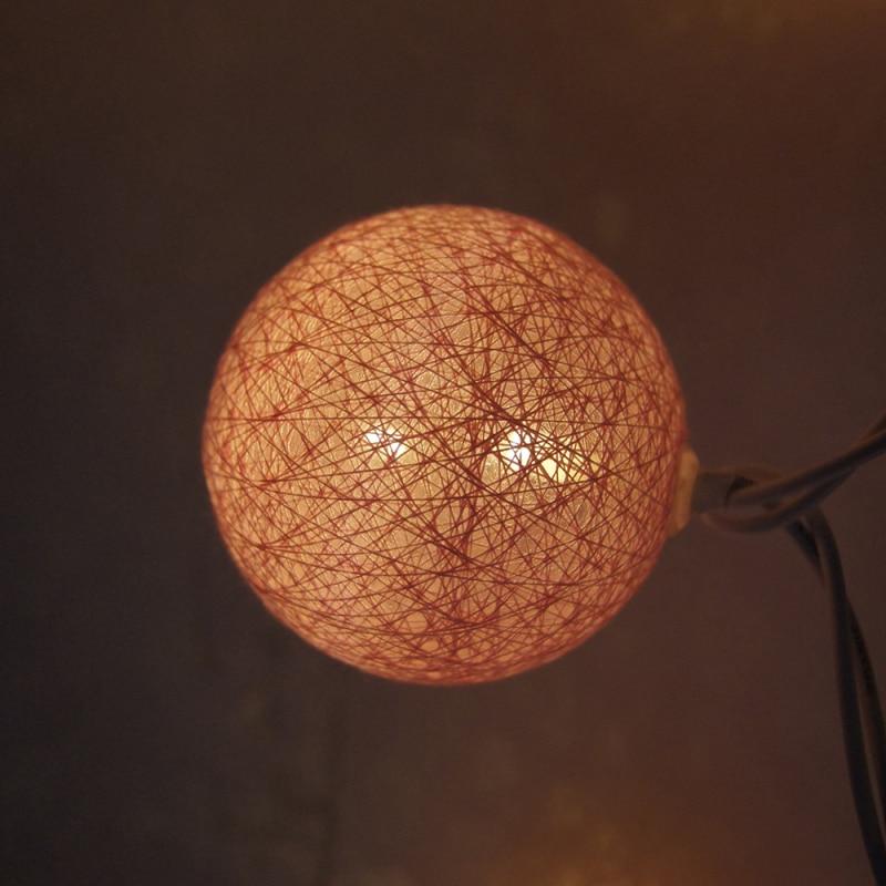 5m 28LED lampu tali garland hangat, AC110V / 220V, cahaya lampu tali - Pencahayaan perayaan - Foto 3
