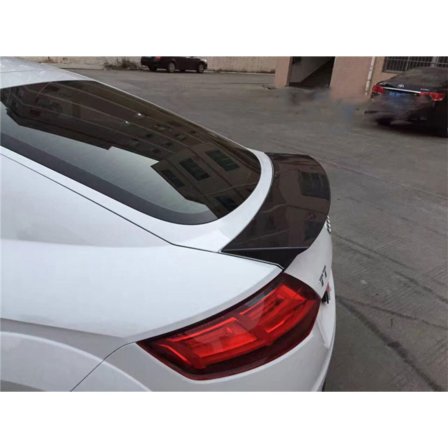Balance it style TT TTS Carbon Fiber Rear Trunk Wing Spoiler FOR Audi TT TTS MK3 Typ 8S 2015up