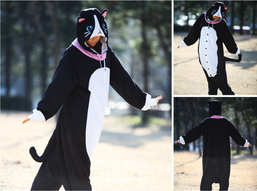 Animal Costume Cosplay Adult  Pyjamas Animal pink blue yellow chihuahua cat chicken cow cattle Pajamas