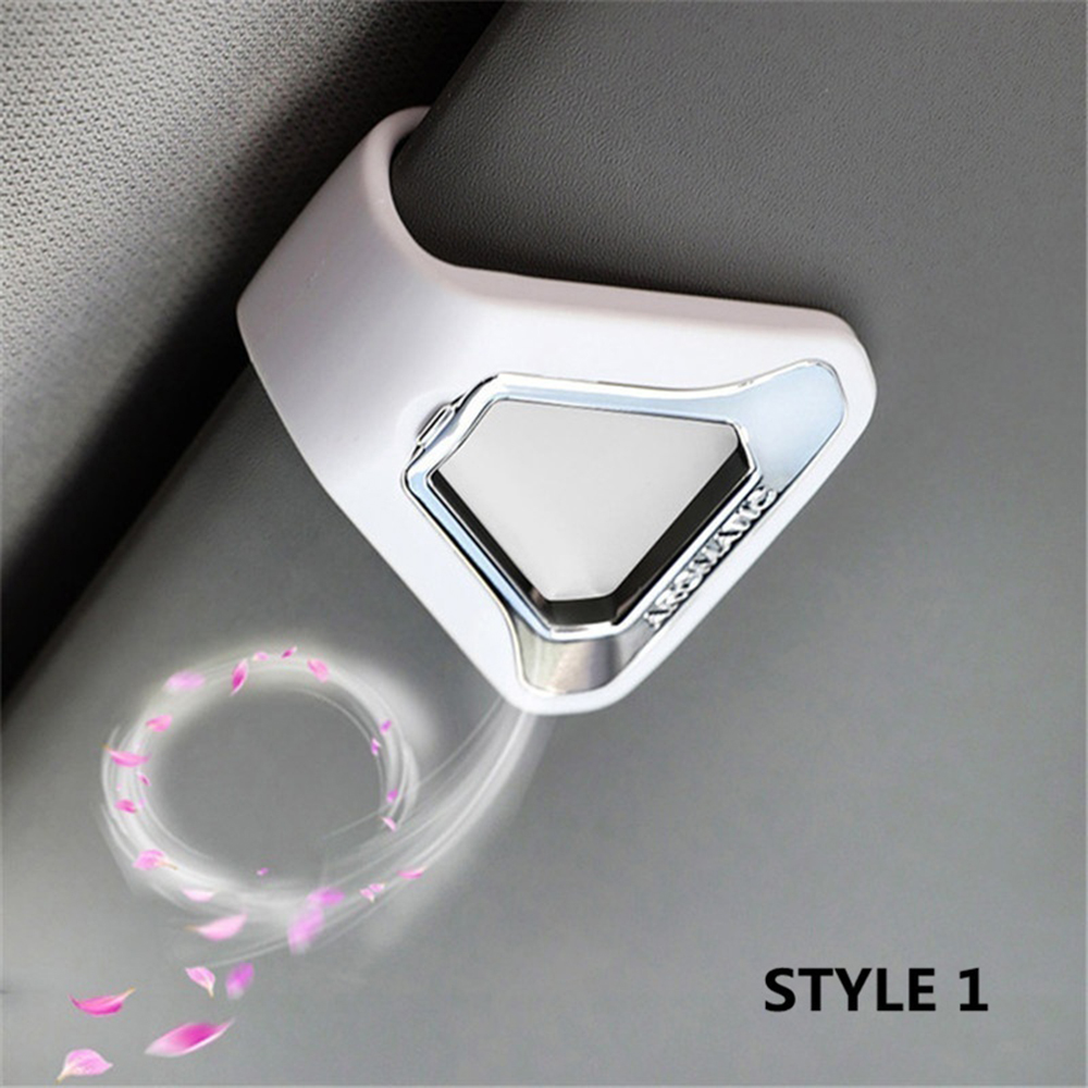 Image 2 - Car Air Freshener Gift Decoration Nature Perfume Smell Flavoring For Sun Visor Backseat Aromatherapy Auto Interior Accessories-in Ornaments from Automobiles & Motorcycles