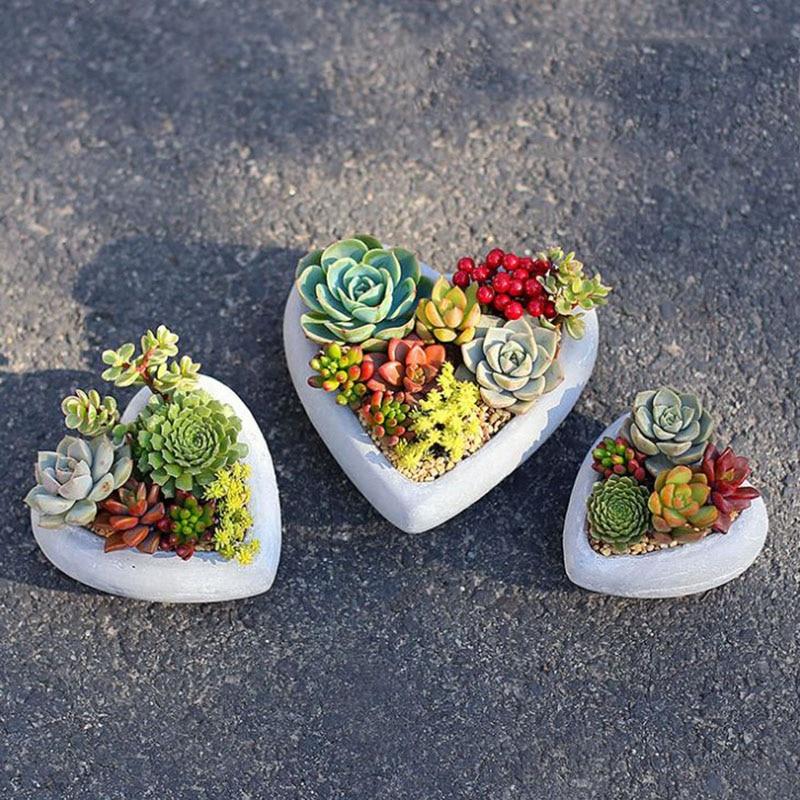 Herz Topfform Silikon Blumentopfform Silikon Betonform Tonform Beton Pflanzer Schimmel