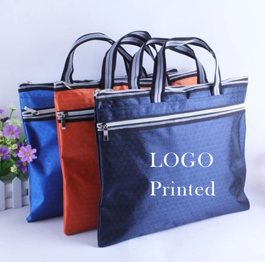 A4 Portable Canvas Bag Customized Portfolio Portfolio Meeting Training Can Print Logo Print Advertising