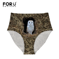 FORUDESIGNS Owl Funny Women High Waist Panties Underwear For Summer Cool Seamless Thin Briefs Comfortable Lady