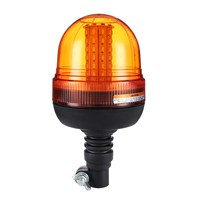 NEW LED Rotating Flashing Amber Beacon Flexible DIN Pole Tractor Warning Light Traffic Light Roadway Safety